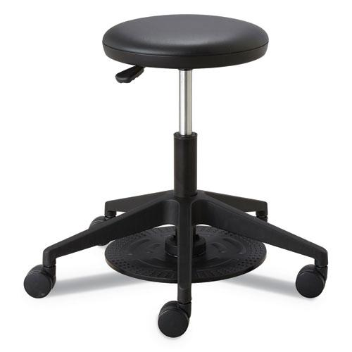 """Lab Stool, 24.25"""" Seat Height, Supports up to 250 lbs., Black Seat/Black Back, Black Base. Picture 1"""
