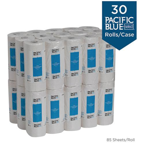 Pacific Blue Select Two-Ply Perforated Paper Kitchen Roll Towels, 11 x 8.8, White, 85/Roll, 30 Rolls/Carton. Picture 4