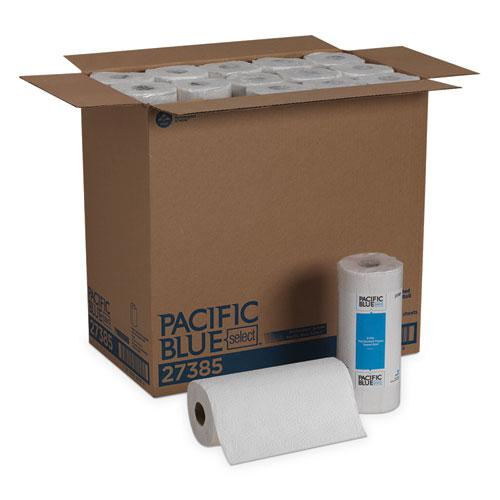 Pacific Blue Select Two-Ply Perforated Paper Kitchen Roll Towels, 11 x 8.8, White, 85/Roll, 30 Rolls/Carton. Picture 1