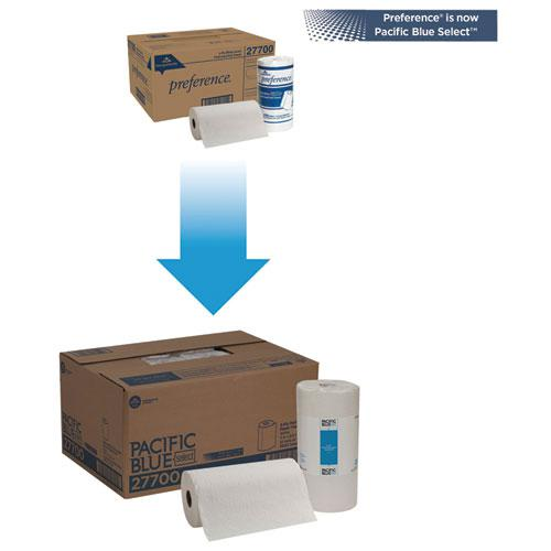 Pacific Blue Select Perforated Paper Towel, 8 4/5x11, White, 250/Roll, 12 RL/CT. Picture 2