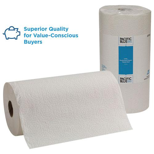 Pacific Blue Select Perforated Paper Towel, 8 4/5x11, White, 250/Roll, 12 RL/CT. Picture 3