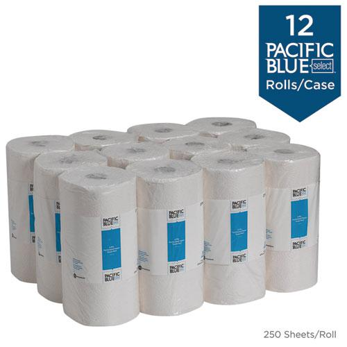 Pacific Blue Select Perforated Paper Towel, 8 4/5x11, White, 250/Roll, 12 RL/CT. Picture 4