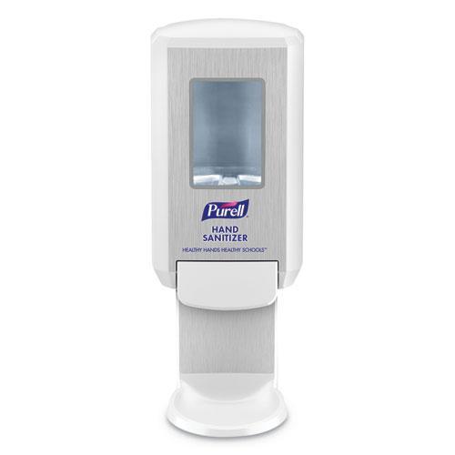 "Education Dispenser, 1200 mL, 4.88"" x 8.19"" x 11.38"", White. Picture 1"