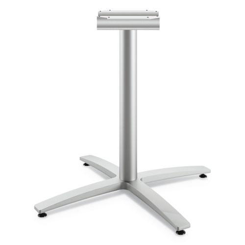 """Between Seated-Height X-Base for 30""""-36"""" Table Tops, Silver. Picture 1"""