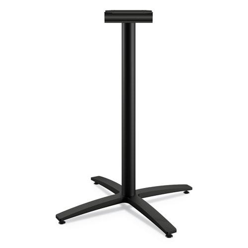 """Between Standing-Height X-Base for 42"""" Table Tops, Black. Picture 1"""