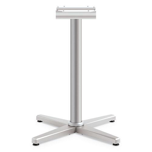 "Arrange X-Leg Base for 30-36"" Tops, 25.59w x 27.88h, Silver. Picture 1"