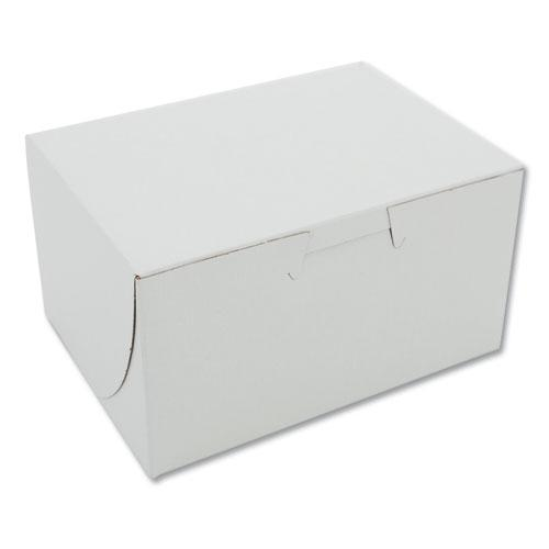 Non-Window Bakery Box, 4w x 2d x 5 1/2h, White, 250/Carton. Picture 1