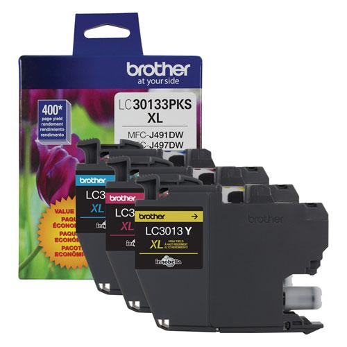 LC30133PKS High-Yield Ink, 400 Page-Yield, Cyan/Magenta/Yellow. Picture 2