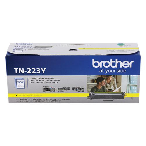TN223Y Toner, 1300 Page-Yield, Yellow. Picture 1