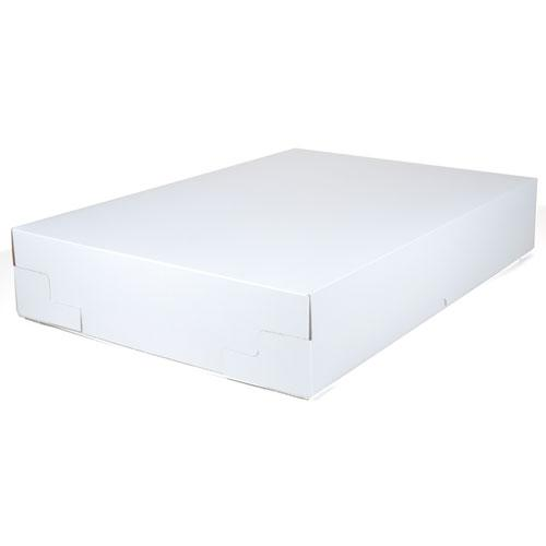 Non-Window Bakery Box, 25w x 17d x 4 1/2h, White, 25/Carton. Picture 1