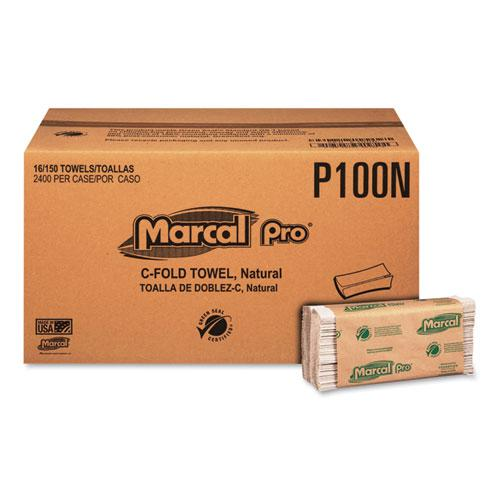 """Folded Paper Towels, 1-Ply, 10 1/8"""" x 12 7/8 """", 2400 Wipes/Case, 16 Case/Carton. Picture 1"""
