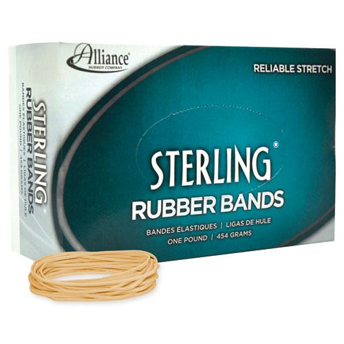 """Sterling Rubber Bands, Size 19, 0.03"""" Gauge, Crepe, 1 lb Box, 1,700/Box. Picture 2"""