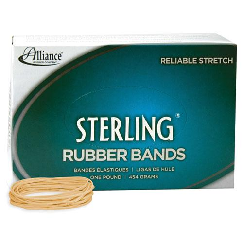 """Sterling Rubber Bands, Size 19, 0.03"""" Gauge, Crepe, 1 lb Box, 1,700/Box. Picture 1"""