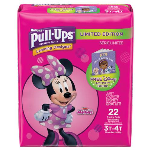 Pull-Ups Learning Designs Potty Training Pants for Girls, Size 3T-4T, 22/Pack. Picture 1