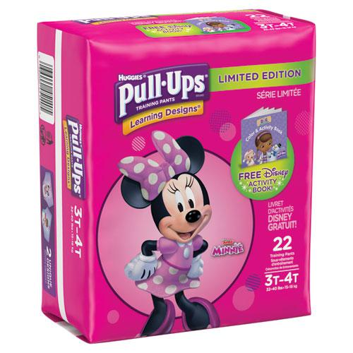 Pull-Ups Learning Designs Potty Training Pants for Girls, Size 3T-4T, 22/Pack. Picture 2