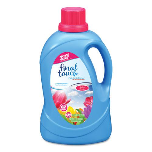 Scented Fabric Softener, Spring Fresh, 134 oz Bottle, 4/Carton. Picture 1