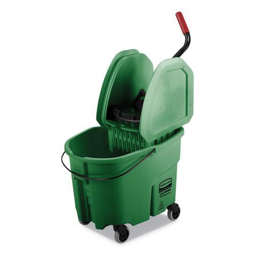 WaveBrake 2.0 Bucket/Wringer Combos, 35 qt, Down Press, Plastic, Green. Picture 1