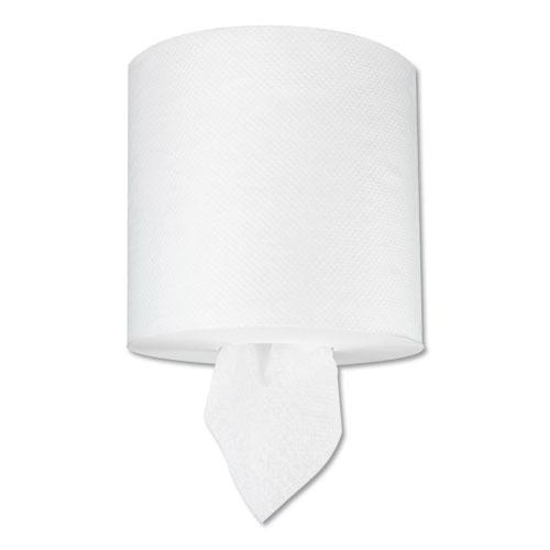 "TAD Center-Pull Hand Towels, 1-Ply, 7 5/8"" x 400 ft, White, 6 Rolls/Carton. Picture 1"