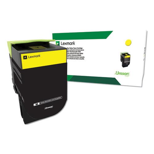 C544X4YG (C544) Return Program Extra High-Yield Toner, Yellow. Picture 1