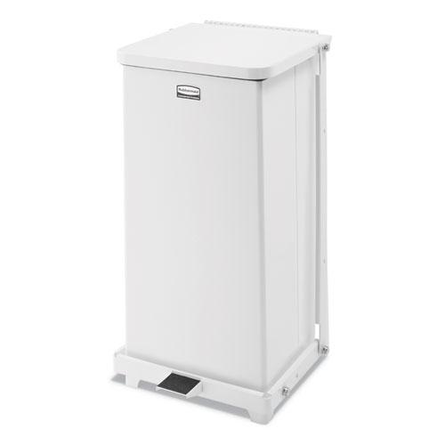 Defenders Quiet Step Can, 6.5 gal, Metal, White. Picture 1