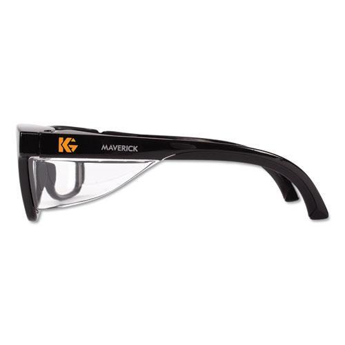 Maverick Safety Glasses, Black, Polycarbonate Frame, Clear Lens. Picture 2