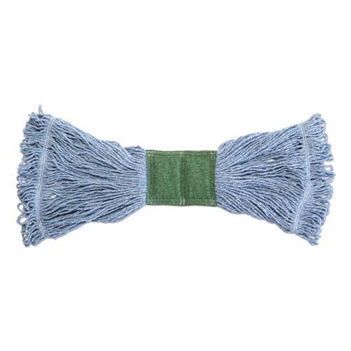 "Scrubbing Wet Mop, Cotton/Synthetic Blend, 19"" x 6"", Blue. Picture 1"
