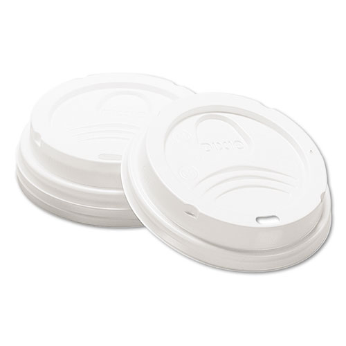 Drink-Thru Lid, Fits 8oz Hot Drink Cups, White, 1000/Carton. Picture 1