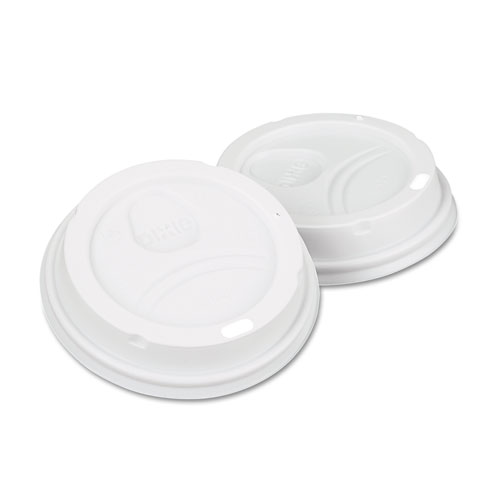 White Dome Lid Fits 10-16oz Perfectouch Cups, 12-20oz Hot Cups, WiseSize, 500/CT. Picture 1