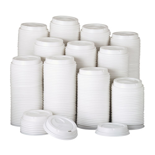 White Dome Lid Fits 10-16oz Perfectouch Cups, 12-20oz Hot Cups, WiseSize, 500/CT. Picture 2