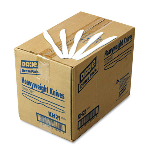 Plastic Cutlery, Heavyweight Knives, White, 1,000/Carton. Picture 2