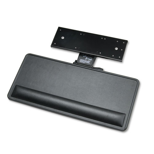 Extended Articulating Keyboard/Mouse Platform, 27w x 12d, Black. The main picture.