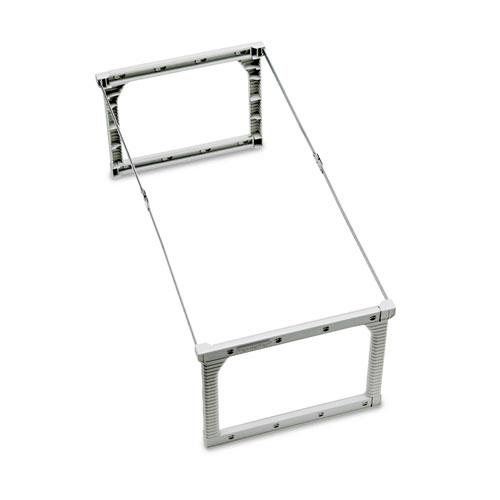 """Plastic Snap-Together Hanging Folder Frame, Legal/Letter Size, 18"""" to 27"""" Long, White/Silver Accents, 4/Box. Picture 2"""