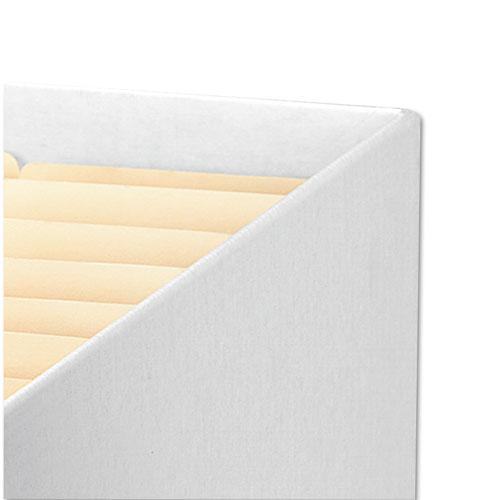 "STOR/FILE Medium-Duty Letter/Legal Storage Boxes, Letter/Legal Files, 12.75"" x 16.5"" x 10.5"", White/Blue, 12/Carton. Picture 2"