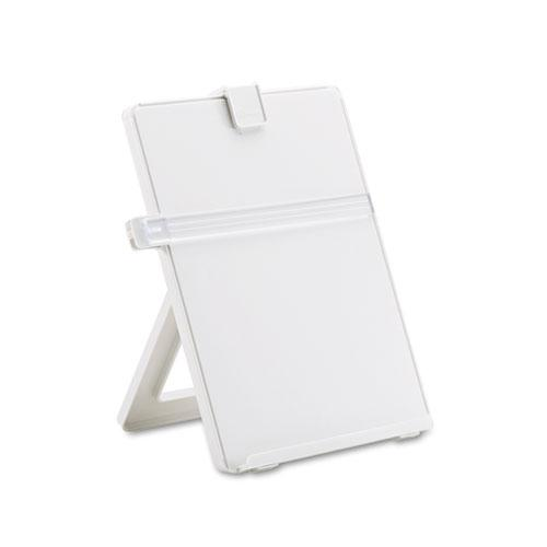 Non-Magnetic Desktop Copyholder, Plastic, 125 Sheet Capacity, Platinum. Picture 1