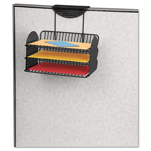 Perf-Ect Partition Additions Three-Tray Organizer, 12 1/8 x 12 3/8, Black. Picture 2