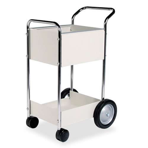 Steel Mail Cart, 75-Folder Capacity, 20w x 25.5d x 39h, Dove Gray. Picture 1