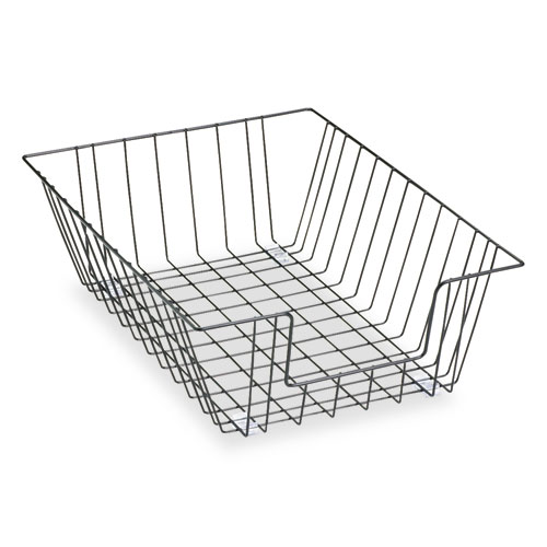 """Wire Desk Tray Organizer, 1 Section, Legal Size Files, 12"""" x 16.5"""" x 5"""", Black. Picture 1"""