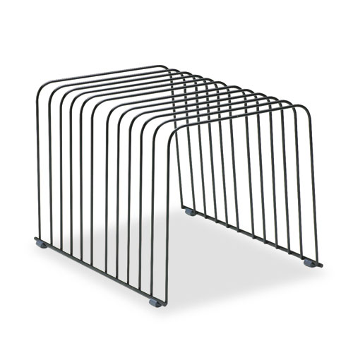 """Wire Desktop Organizer, 11 Sections, Letter to Legal Size Files, 9"""" x 11.38"""" x 8"""", Black. Picture 1"""