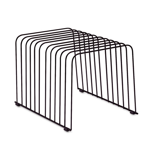 """Wire Desktop Organizer, 11 Sections, Letter to Legal Size Files, 9"""" x 11.38"""" x 8"""", Black. Picture 2"""