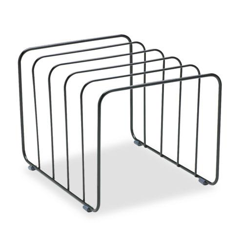 """Wire Vertical File, 5 Sections, Letter to Legal Size Files, 10.25"""" x 8"""" x 7.44"""", Black. Picture 2"""