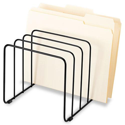 """Wire Vertical File, 5 Sections, Letter to Legal Size Files, 10.25"""" x 8"""" x 7.44"""", Black. Picture 1"""