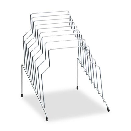 """Wire Step File, 8 Sections, Letter to Legal Size Files, 10.13"""" x 12.13"""" x 11.81"""", Silver. Picture 1"""