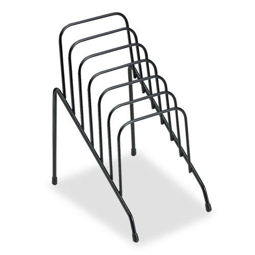 """Wire Step File Jr., 6 Sections, DL to A5 Size Files, 4.38"""" x 6.5"""" x 7.75"""", Black. Picture 1"""