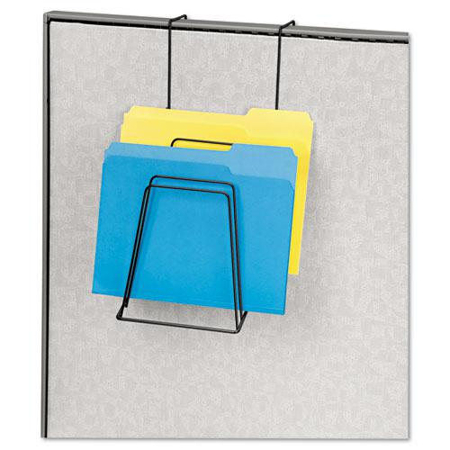 Wire Partition Additions Six-Step File Organizer, 7 1/2 x 10 1/2, Black. Picture 2