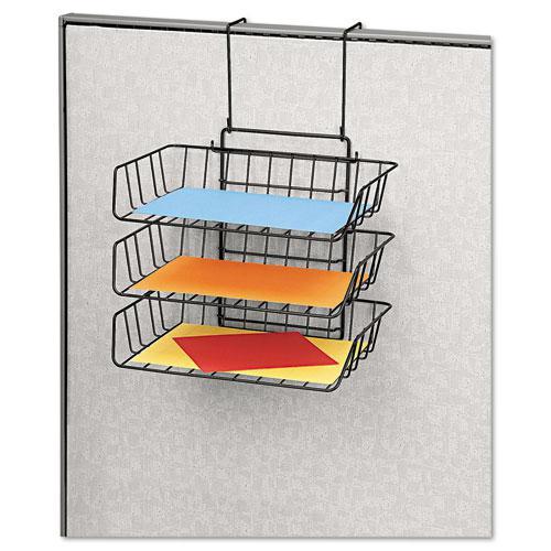 Wire Partition Additions Three-Tray Organizer, 13 1/2 x 11 7/8, Black. Picture 2