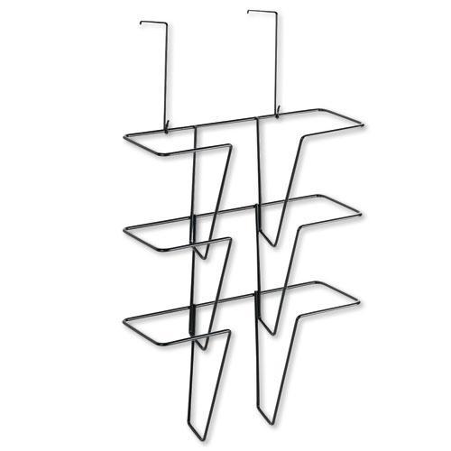 Wire Partition Additions Three-Pocket Organizer, 12 5/8 x 23 1/4, Black. Picture 1