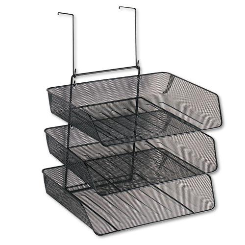 Mesh Partition Additions Three-Tray Organizer, 11 1/8 x 14 x 14 3/4, Black. Picture 1