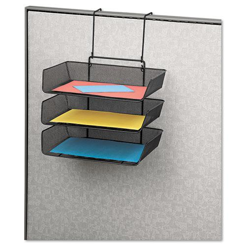 Mesh Partition Additions Three-Tray Organizer, 11 1/8 x 14 x 14 3/4, Black. Picture 2