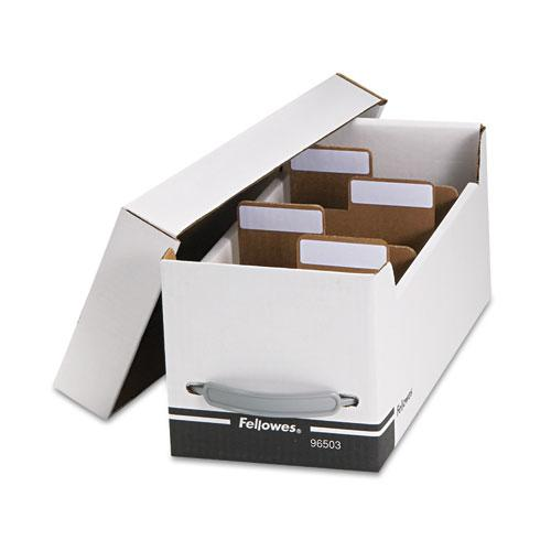 Corrugated Media File, Holds 125 Diskettes/35 Standard Cases, White/Black. Picture 1