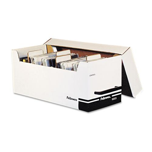 Corrugated Media File, Holds 125 Diskettes/35 Standard Cases, White/Black. Picture 2